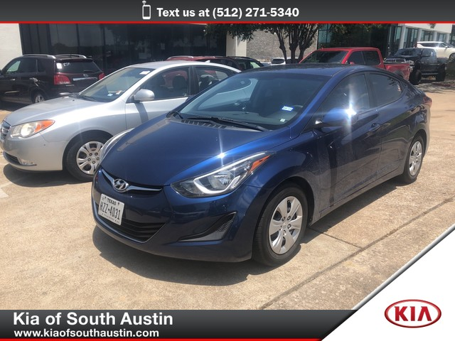 2016 Hyundai Elantra Value Edition >> Pre Owned 2016 Hyundai Elantra Value Edition Sedan In Austin