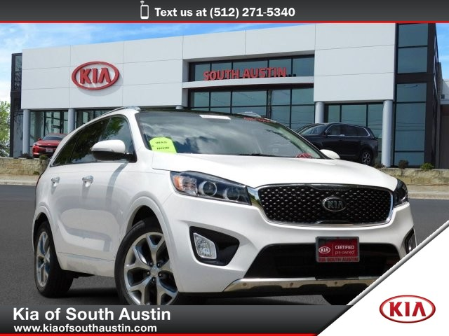 Certified Pre-Owned 2016 Kia Sorento SX CARFAX 1-Owner CERTIFIED 3RD ROW SEATSPanoramic Roof with Power Sun Shade